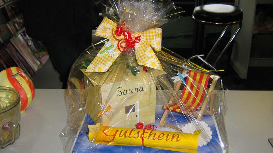 geschenk für sauna